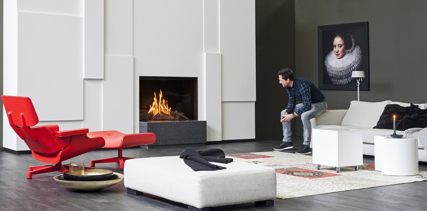 De Faber gashaard MatriX 650-I is een moderne frameless fronthaard met de innovatieve Log Burner 2.0®.  De huidige interieurtrend is een revival van charme. De houtstammen zijn terug en het echte vlammenbeeld is weer hot. Naast de haard integreert men kasten, een tv-wand, legplanken voor boeken of sfeervolle verlichting. Zo vormt de haard een mooi geheel met de rest van de woonkamer.