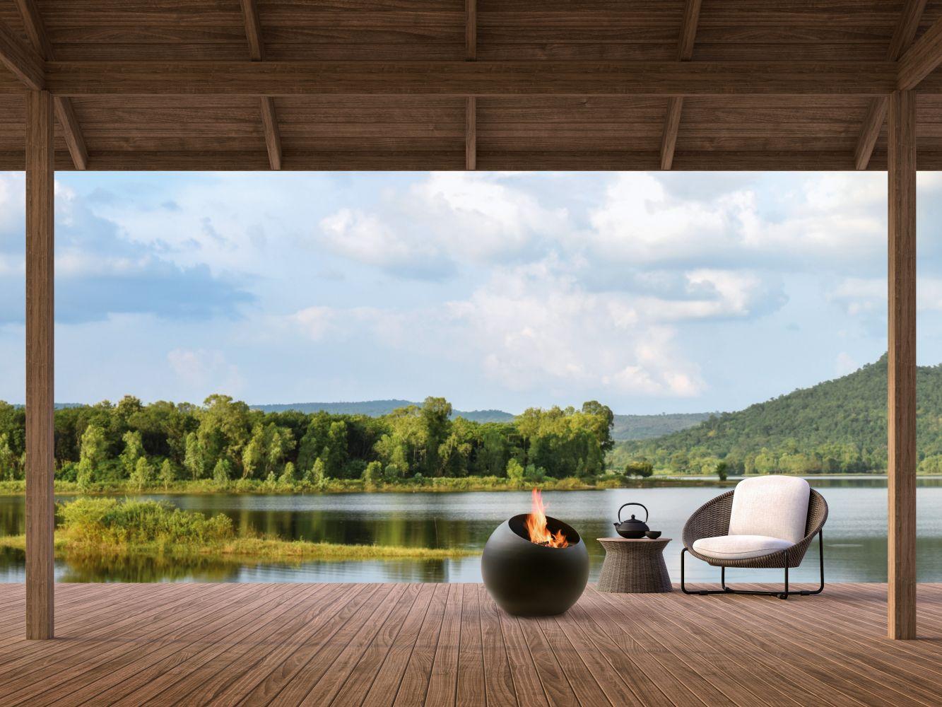 Tuinhaard Bubble. Focus Outdoor. Design voor tuin en terras #buitenhaard #tuinhaard #bubble #focus #outdoor