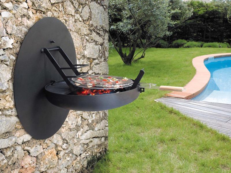 In hoogte verstelbare barbecue aan de wand. #Sigmafocus