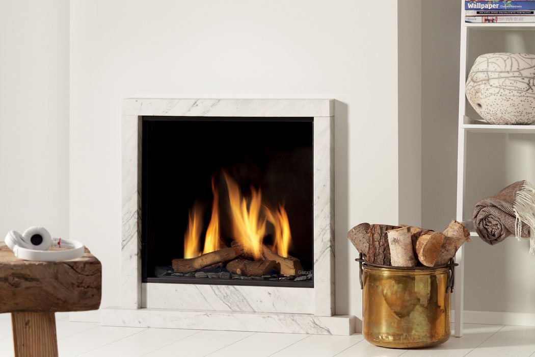 Global Fires gashaard in schouw - inbouwhaard #interieur #haard