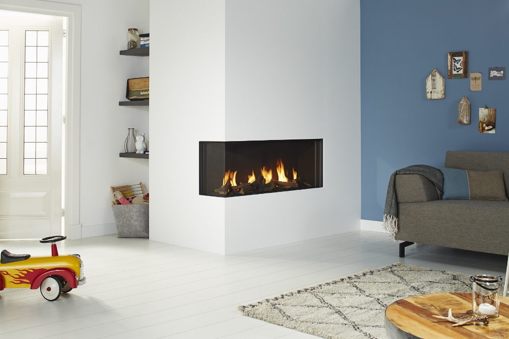 Design gashaard in de hoek - Global Fires