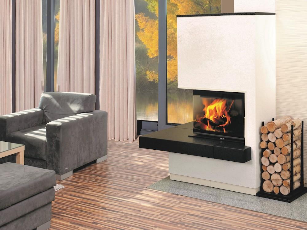 Kleine inbouwhaard Heat 42x50cm. Houtvuur voor een kleine ruimte #heat #inbouwhaard