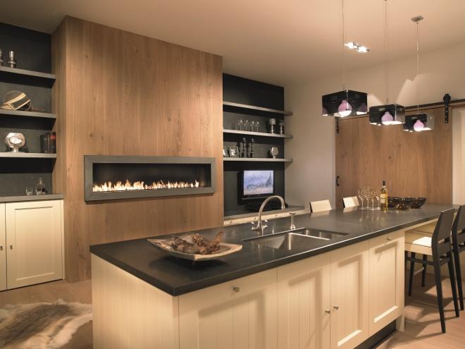 Keuken met moderne gashaard van Boley