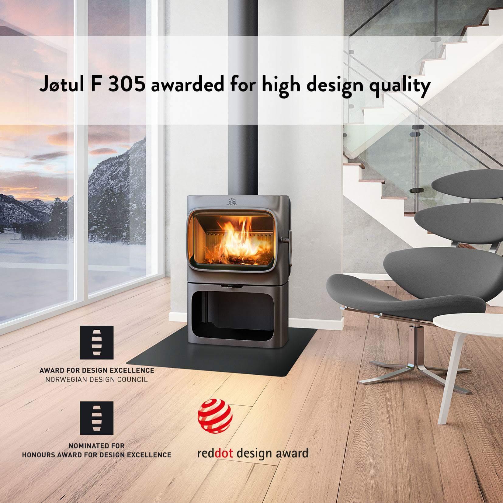 Jotul houtkachel F305 genomineerd voor belangrijke design award