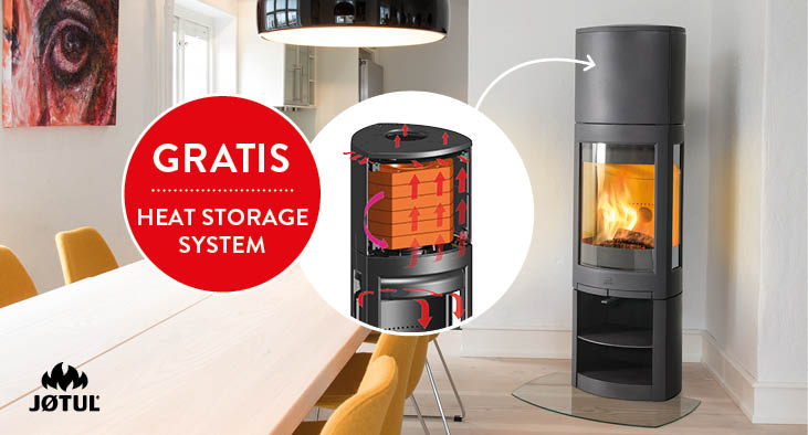 Noorse houtkachel Jøtul F 371 High Top Advance met gratis Heat Storage System #houtkachel #scandinavisch #interieur