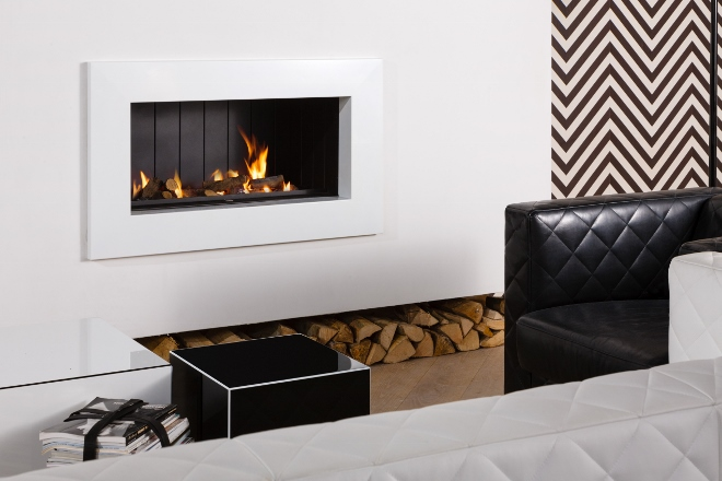 Deze inbouwhaard brandt op gas en hout - KombiFire Eko - Jan des Bouvrie