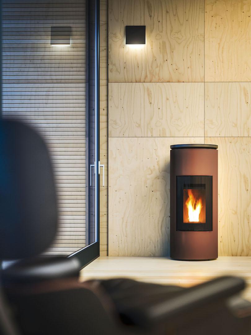 Energiezuinig verwarmen met een pelletkachel - MCZ Mood via Fero