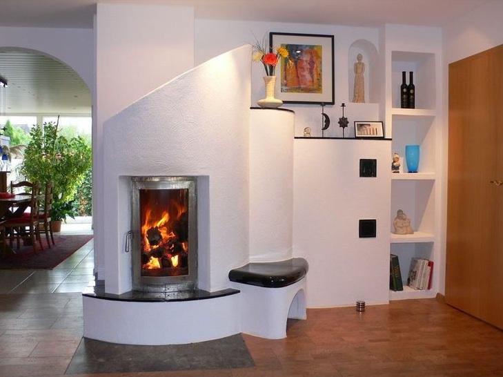 Ortner accumulerende houtkachel met stralingswarmte: een paar uur stoken voor 12 tot 24 uur warmte.