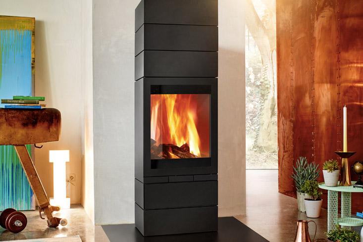 Moderne houtkachel Skantherm Elements 603 Front via Multysyst #houtkachel #kachel #haard
