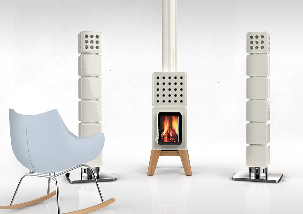 ThermoStack houtkachel met centraal verwarmingssysteem via Art of Fire
