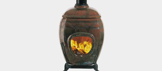 Handgemaakte houtkachel van African Flame