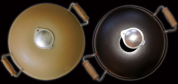 Keramische pizza-oven in twee kleuren