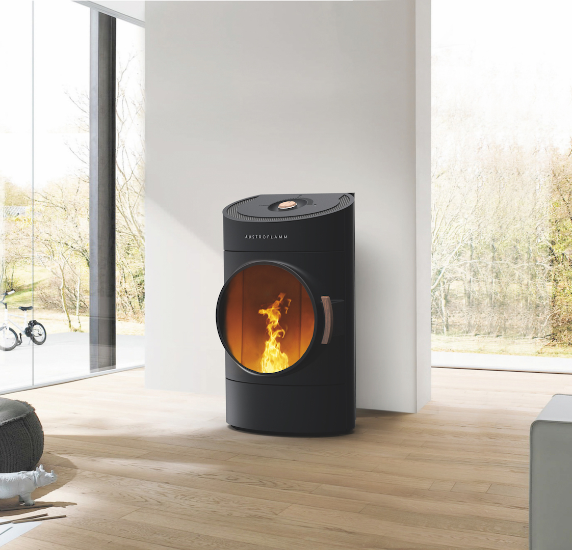 Energiezuinig verwarmen met een pelletkachel - Austroflamm Clou via Fero