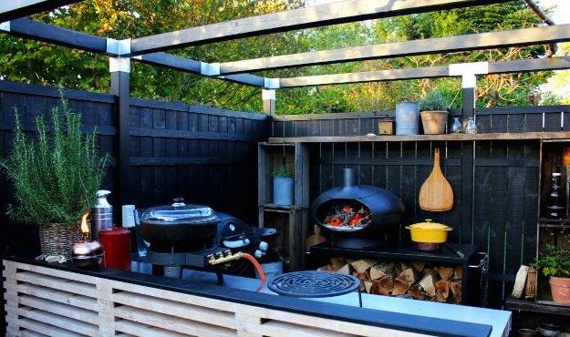 Buitenkeuken met Morso pizzaoven en grill Forno #buitenkeuken #pizzaoven #bbq