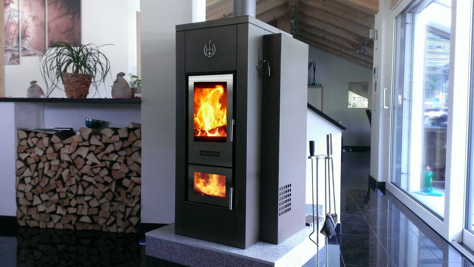 CV Haard - Walltherm houtvergasser via Eco2all #haard #duurzaam #verwarmen