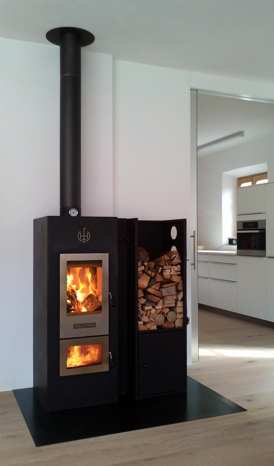 Houtgestookte CV kachel Walltherm via Eco2All - duurzaam verwarmen