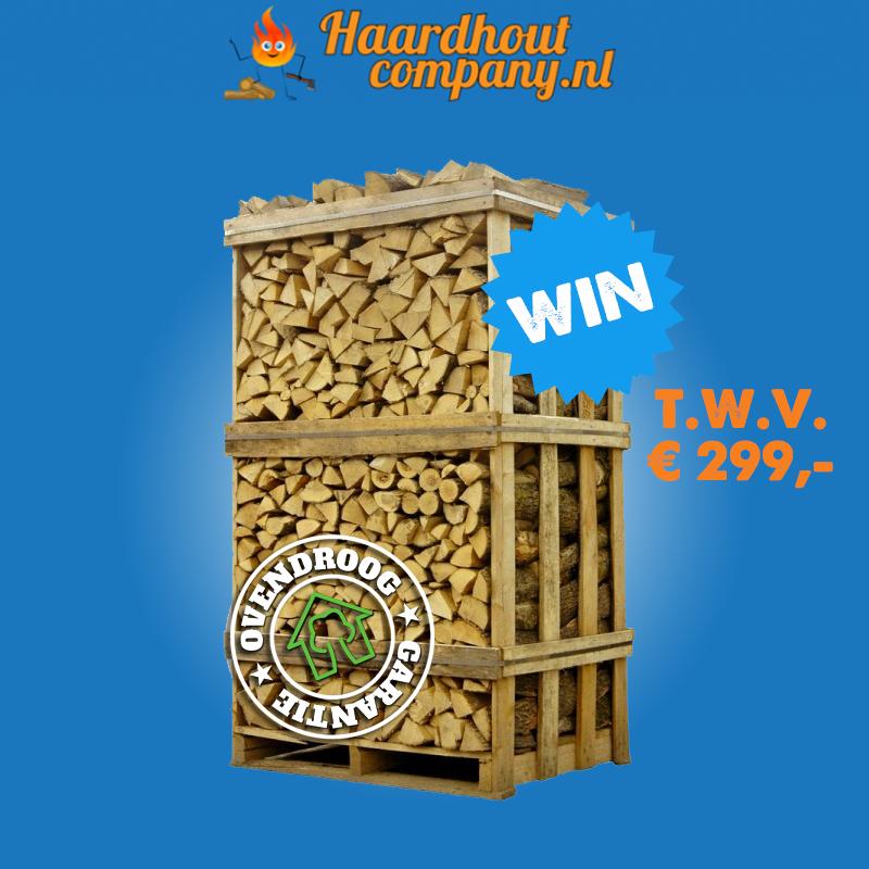 Win 6 x een pallet haardhout van de Haardhoutcompany #haardhout #hout #houtkachel #openhaard #haard #uwhaard #haardhoutcompany