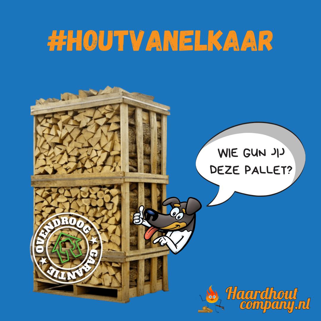 Win een pallet haardhout van de Haardhoutcompany #haardhoutcompany #houtvanelkaar