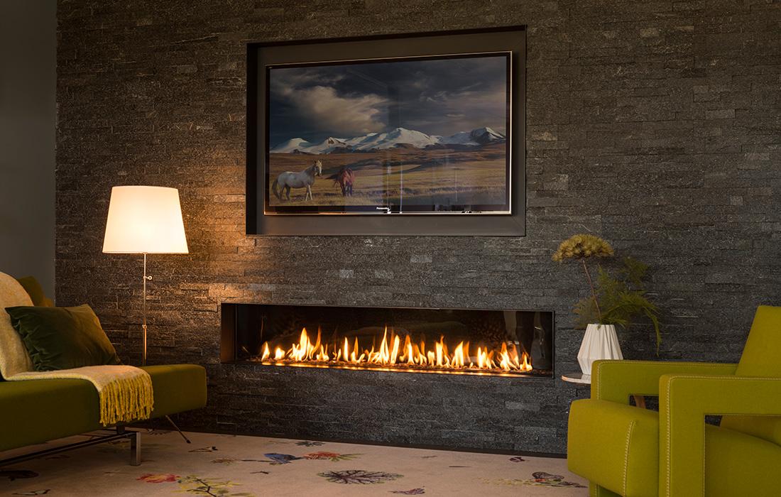 Gashaard, moderne designhaard van Homefire #gashaard #haard #designhaard #homefire
