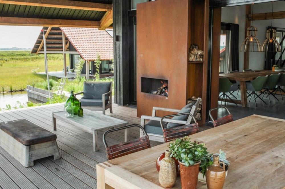 Project Heegh in Friesland met gecombineerde binnen- en buitenhaard - Zeno Products