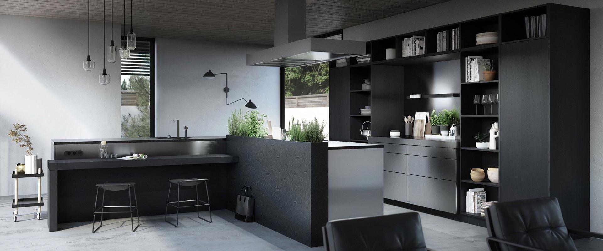 Zwarte keuken SieMatic Urban