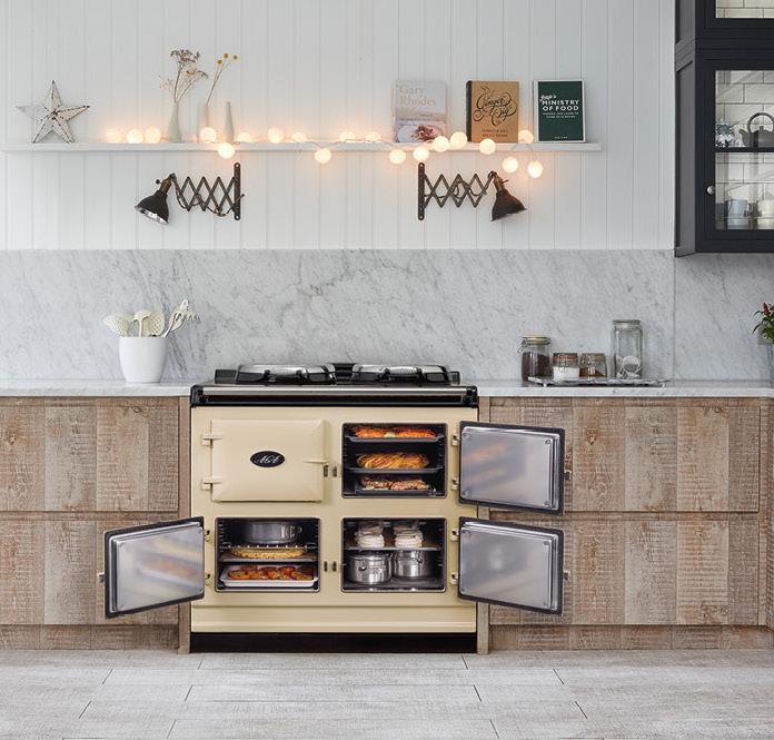 Aga fornuis in houten keuken #aga #fornuis #keuken #keukeninspiratie