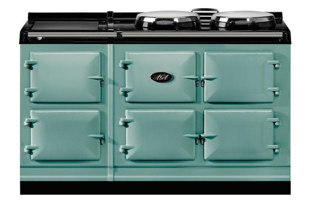 Aga fornuis groen met 5 ovens