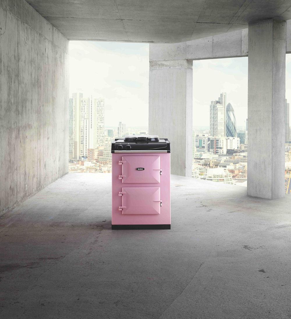 Klein AGA fornuis, geschikt voor bijvoorbeeld een stadsappartement - AGA City60 in roze