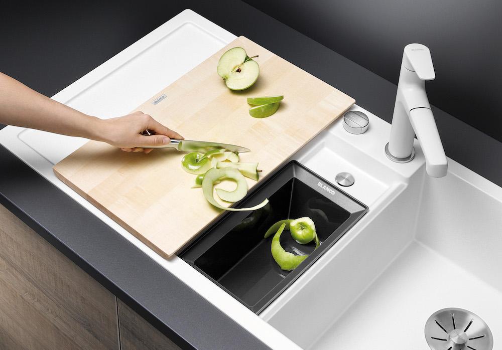 Alles over spoelbakken - spoelbak Blanco collectis 6 s in silgranit met organisch afvalbakje #spoelbak #keuken #keukeninspiratie
