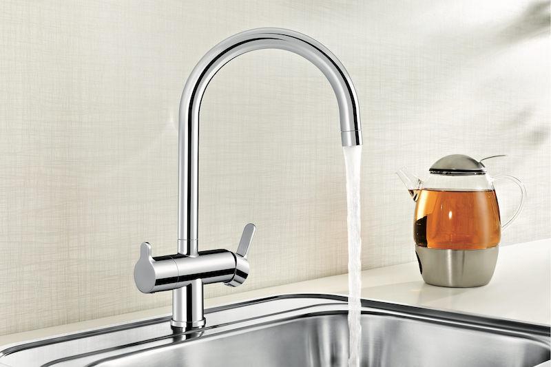 Blanco filtermengkraan voor gefilterd drinkwater. Blanco Fontas #keuken #kraan #filtermengkraan #blanco