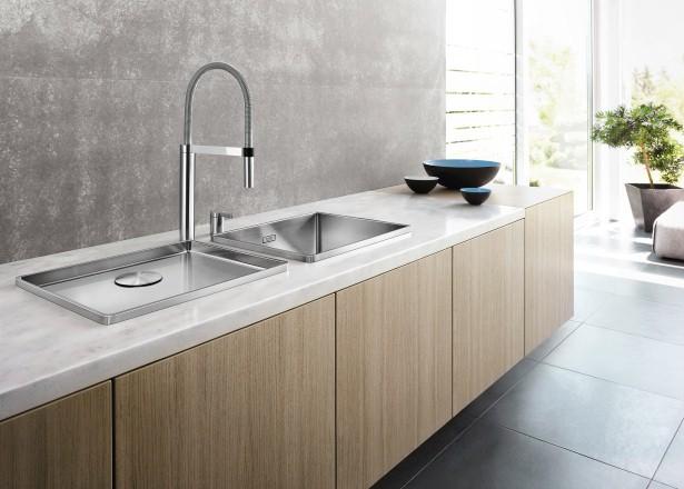Extra werkruimte in de keuken met spoelbak Blanco Attika XL 60