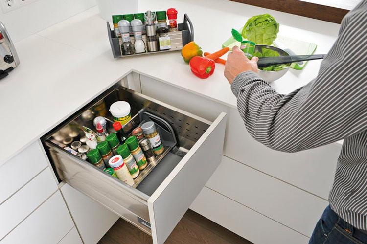 Verplaatsbare kruidenhouder voor keukenlade - Orgalux