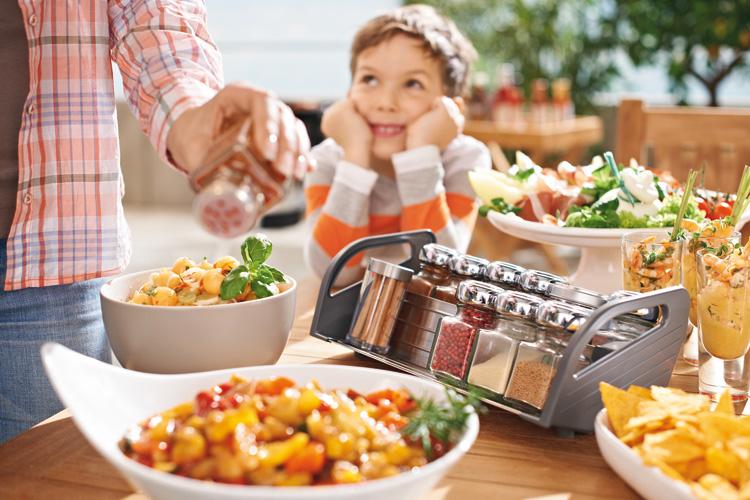 Verplaatsbaar kruidenrek voor de keukenlade van Orgalux