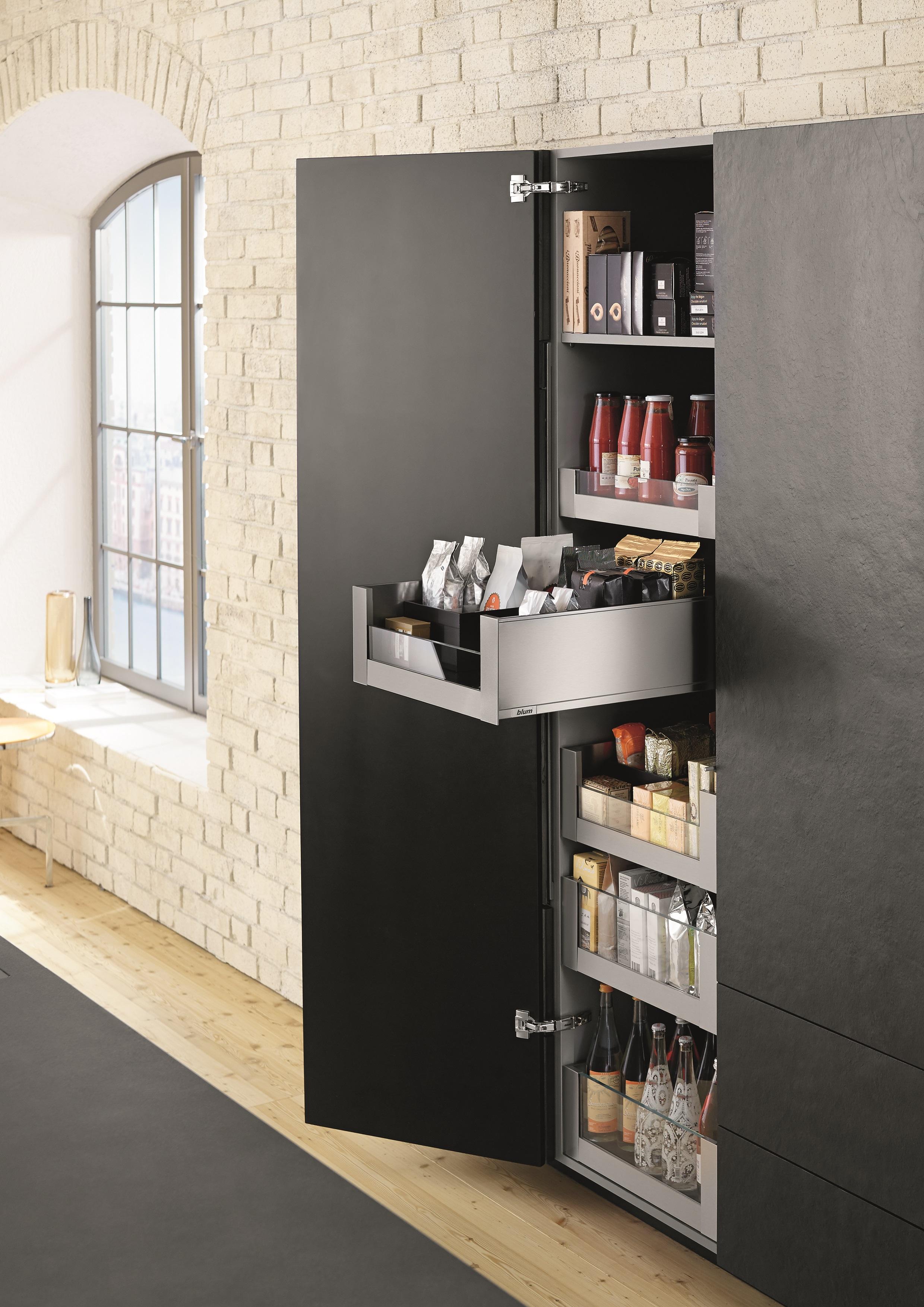 Orion  Door Kitchen Pantry Black