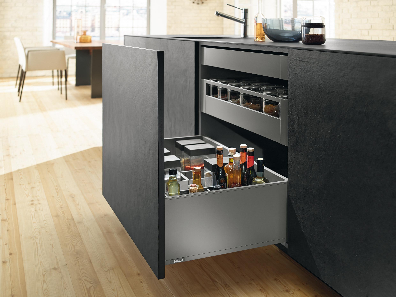 Legrabox keukenlade indelen van Blum