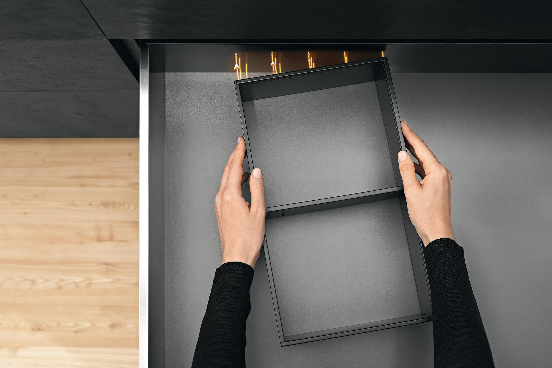 Blum Legrabox magnetische indeling keukenlade