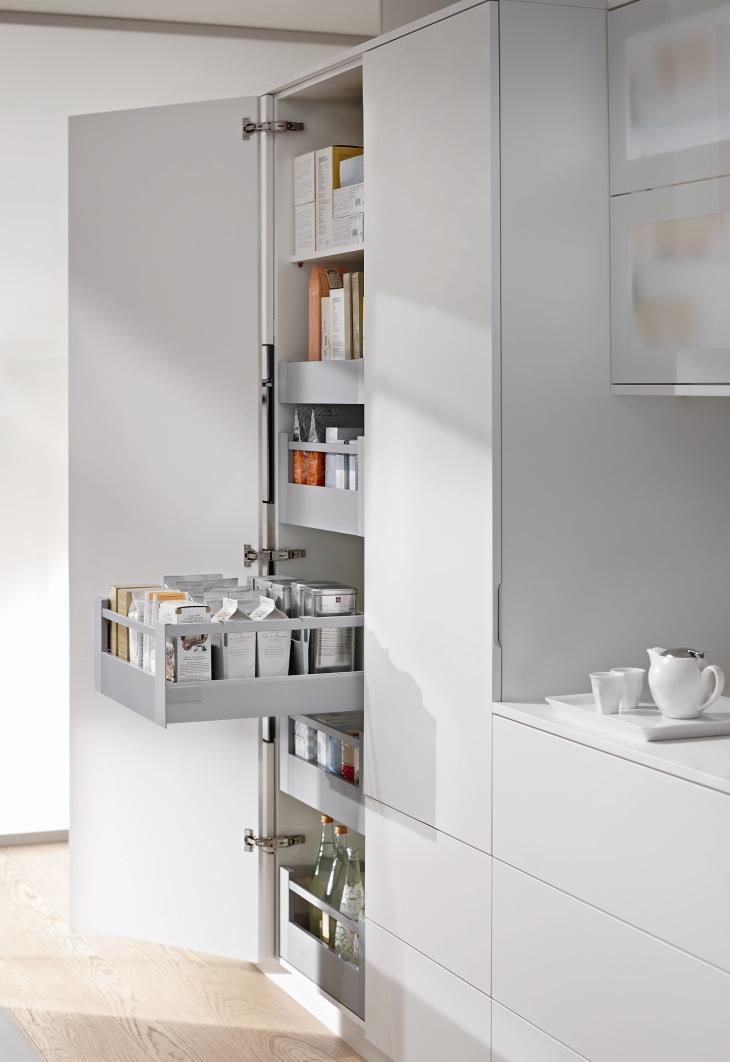 Extra opbergruimte met de nieuwe voorraadkasten van Blum   Nieuws Startpagina voor keuken idee u00ebn
