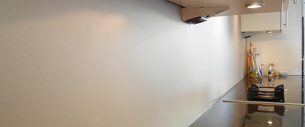 Bokmerk vocht- en krasbestendige luxe achterwand voor de keuken van aluminium