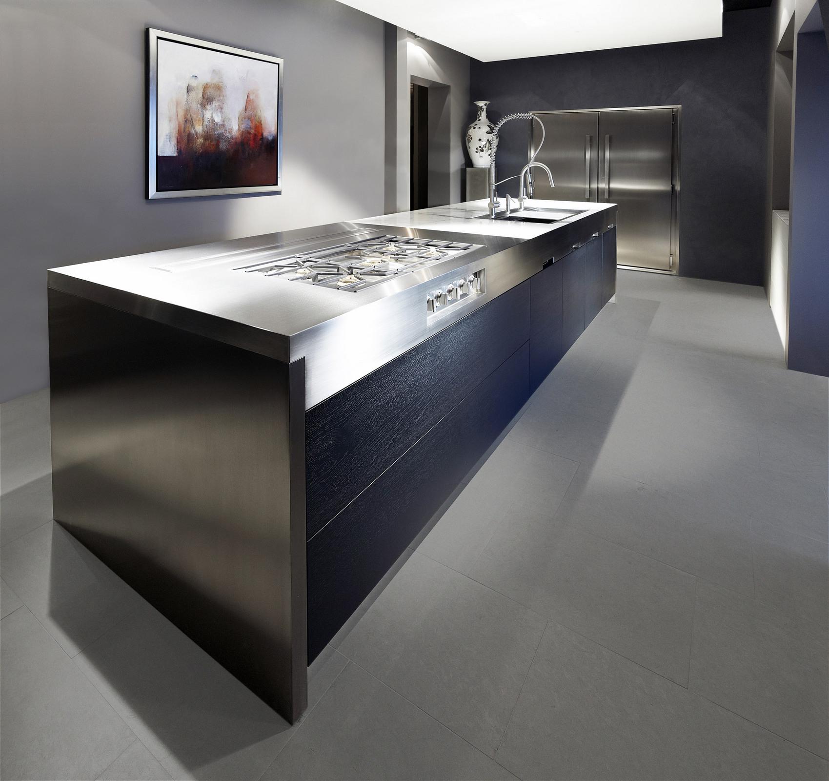 Culimaat Vertex keukenconcept met spoel en kookeiland
