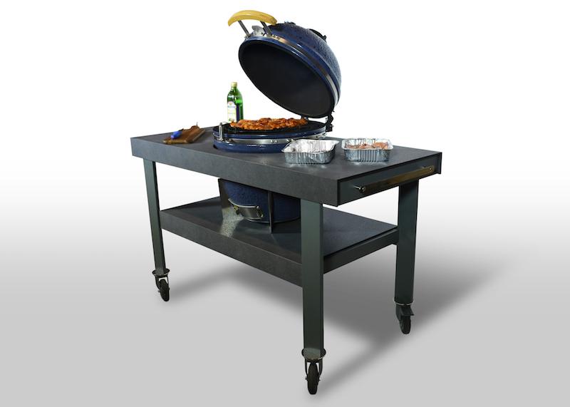 Takumi BBQ en Grill ingebouwd in werkblad via Dekker Zevenhuizen #buitenkeuken #takumi #bbq