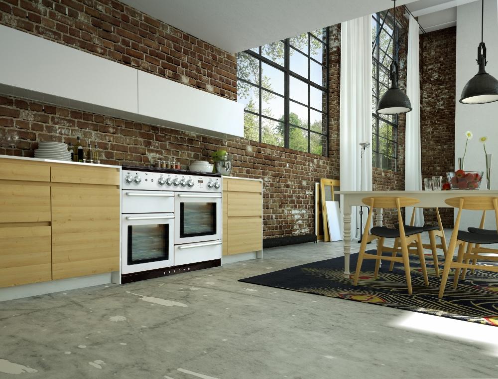 Modern loft met fornuis Falcon Nexus 110 wit