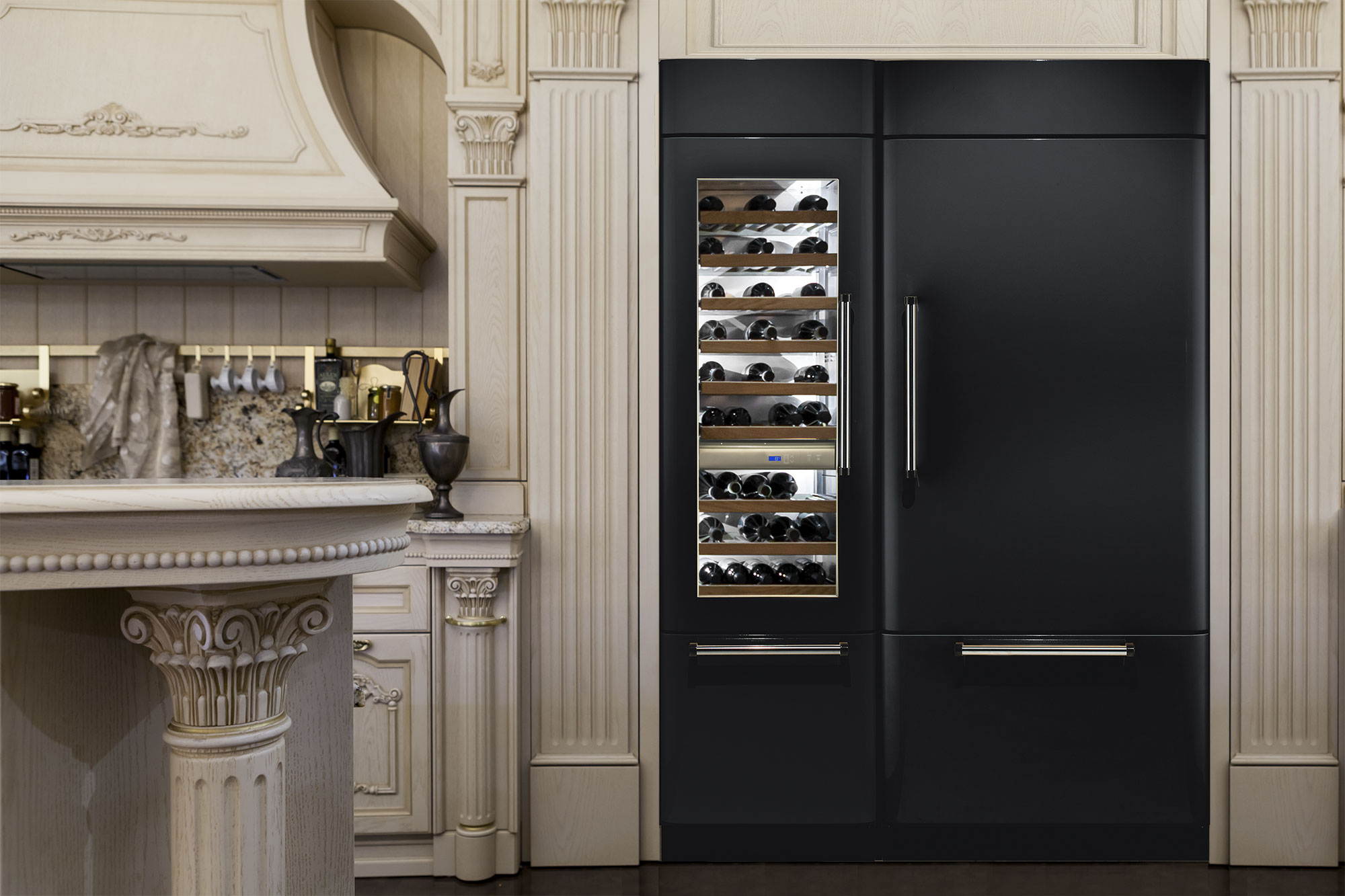 Fhiaba luxe koelwand - zelf samen te stellen modules #keuken #koelkast #wijnklimaatkast #koelvriescombinatie #woneninstijl