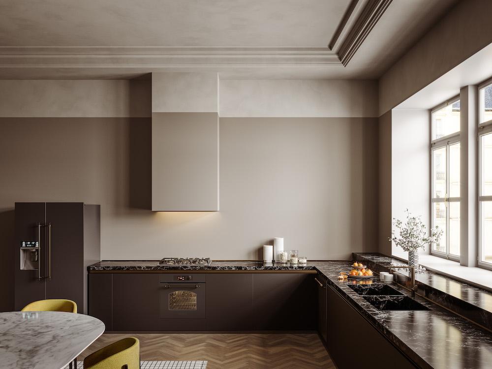 ILVE fornuis Nostalgie met 1 oven #keuken #fornuis #ILVE #nostalgie #gasfornuis #vrijstaandfornuis #keukeninspiratie #marmer