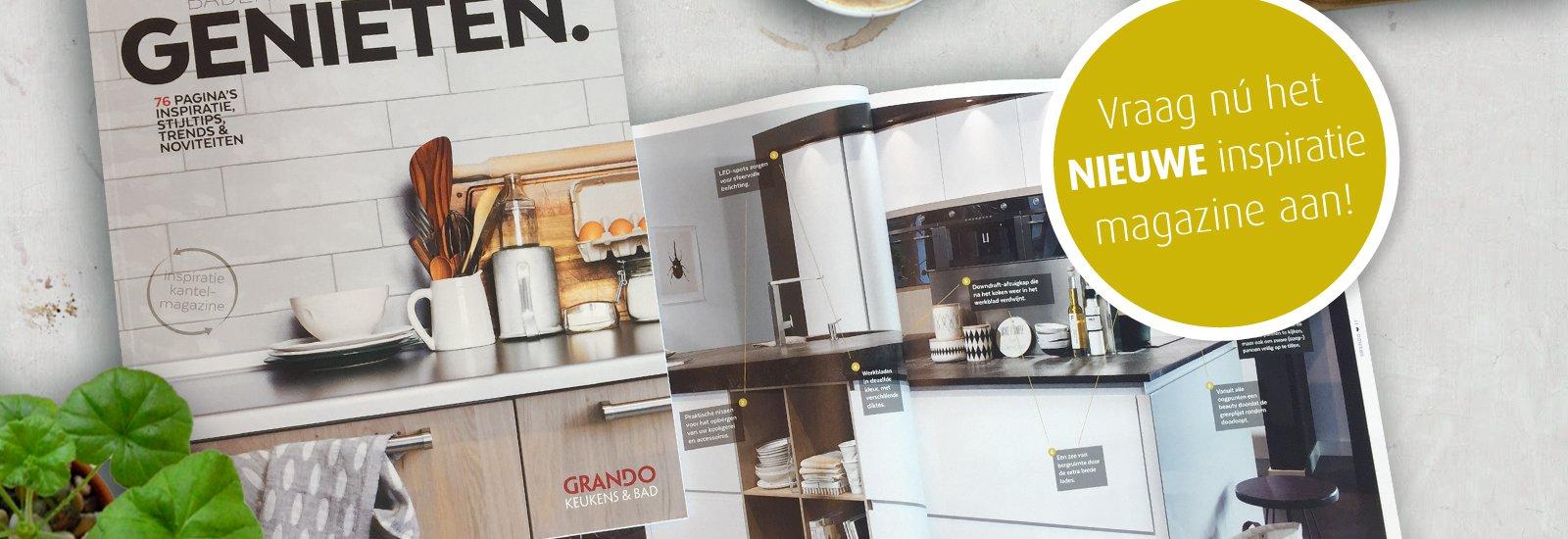 Grando Keuken en Badkamer inspiratie magazine. Gratis keukenmagazine met inspiratie, tips en binnenkijkers #keuken #keukeninspiratie #magazine