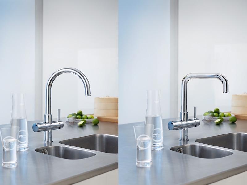 Design Keuken Kraan : Grohe blue home kraan voor gefilterd bruisend gekoeld water