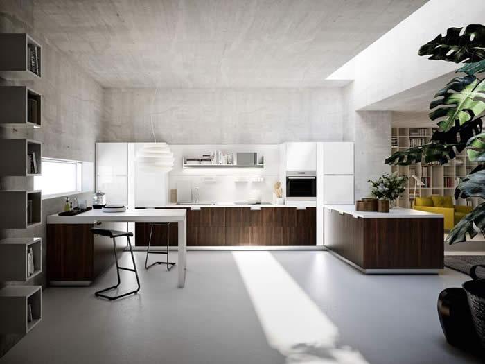 Snaidero Lux houten design keuken