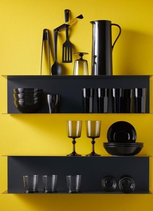 Ikea wandopbergers keuken stalen plank Botkyrka
