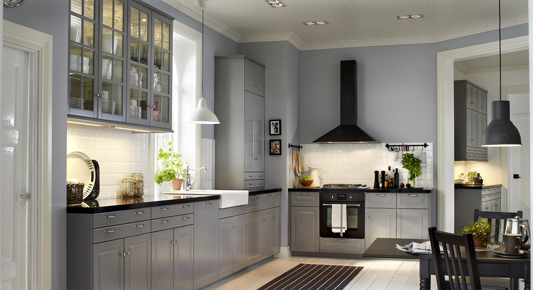Wasbak Keuken Installeren : IKEA Grey Kitchen Cabinets