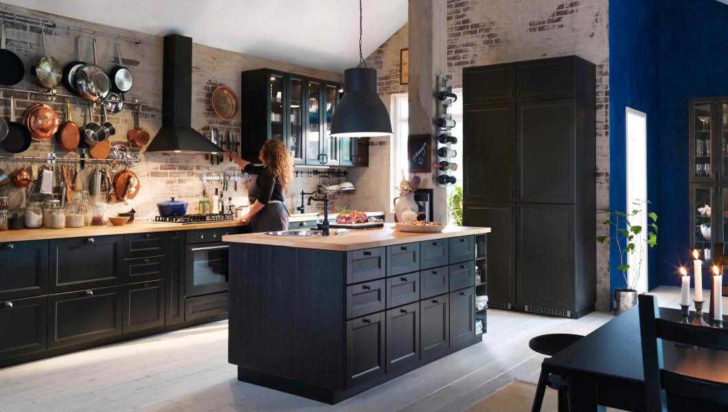 Benieuwd naar de nieuwe flexibele keukens van ikea nieuws startpagina voor keuken idee n uw - Keuken meuble noir ...