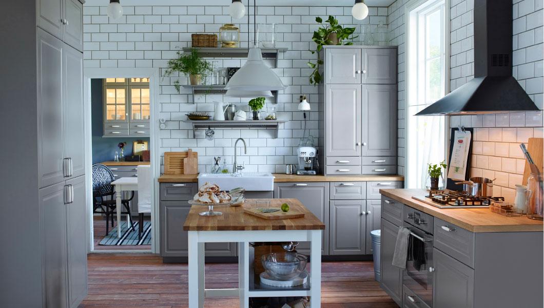 Keuken Landelijk Grijs : IKEA Grey Kitchen Cabinets